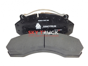 Колодка тормозная HOWO A7 передняя дисковый тормоз 1 шт WG9100443050/1-S