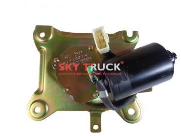 Мотор стеклоочистителя FOTON-1099 24В в сборе с пластиной (прямоугольная фишка, 5 контактов) 1B220525X0001